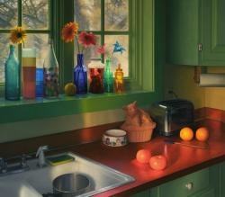 Kitchen, Winter Sunrise