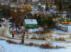 Valley in Winter, detail