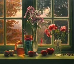 Window Still Life in Autumn
