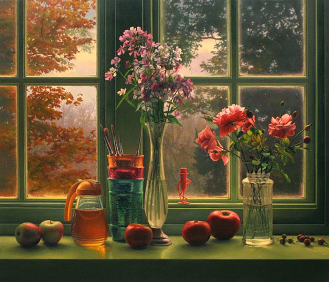 Autumn Window Art Paint
